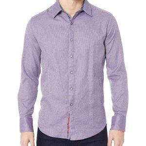 Robert Graham Men's Purple Garvey Dress Shirt - Medium
